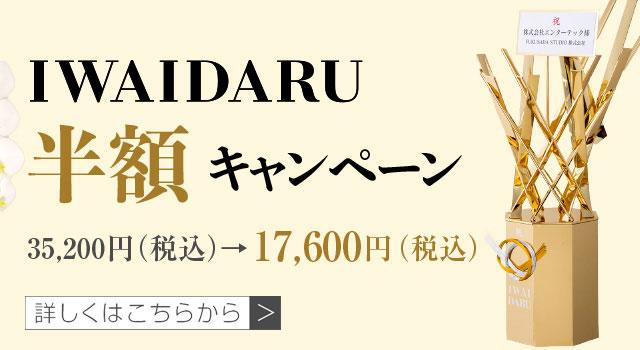初めてのお客様限定!IWAIDARU半額キャンペーン! | 法人専門贈り花 ハボタンフラワー
